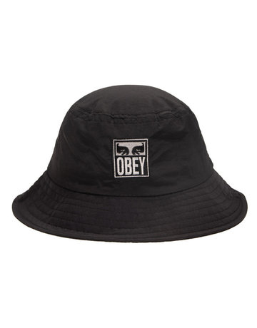 OBEY ICON REVERSIBLE BUCKET HAT - BLACK MULTI