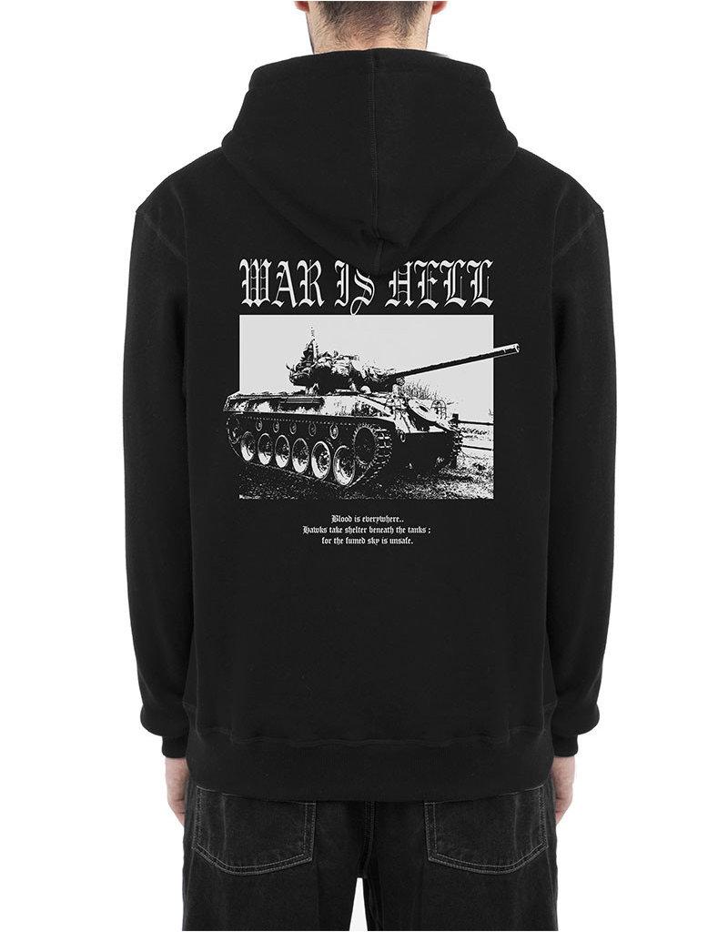 WASTED PARIS WAR IS HELL HOODIE - BLACK