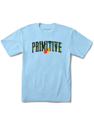 PRIMITIVE PALMS TEE - POWDER BLUE