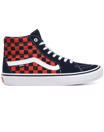 VANS SK8-HI PRO - (CHECKERBOARD) NAVY/ORANGE