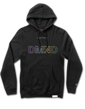 DIAMOND 3 DMND HOODIE - BLACK