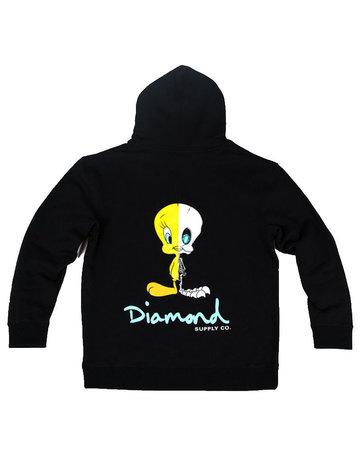 DIAMOND X-RAY HOODIE - BLACK