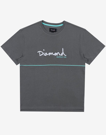 DIAMOND HARD CUT TEE - GREY