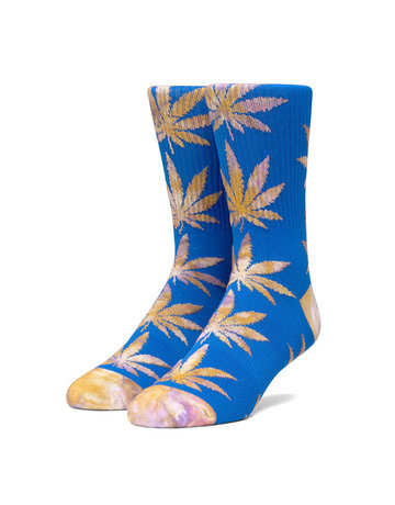 HUF PLANTLIFE TIEDYE LEAVES SOCK - OLYMPIAN BLUE