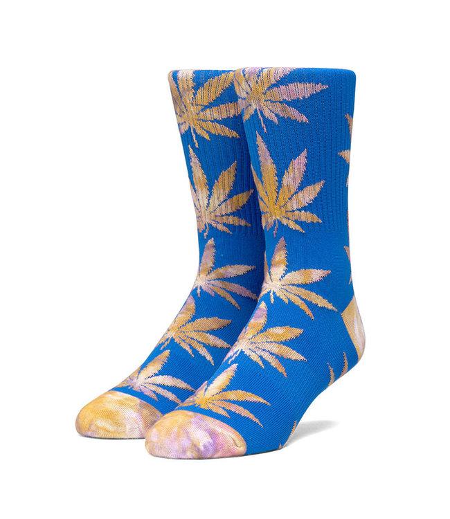 HUF PLANTLIFE TIEDYE LEAVES SOCK - OLYMPIAN BLUE