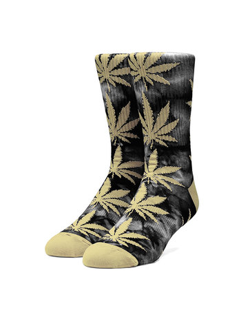 HUF PLANTLIFE TIEDYE SOCK - BLACK