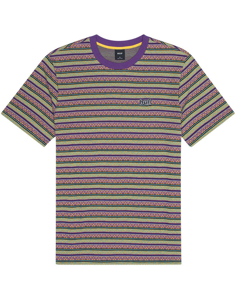 HUF ALLEN S/S KNIT TOP - GRAPE