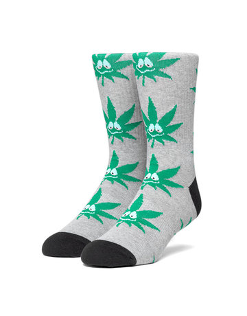 HUF GREEN BUDDY 3PL SOCK - GREY HEATHER