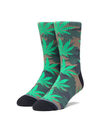 HUF PLANTLIFE POP CAMO SOCK - BLACK