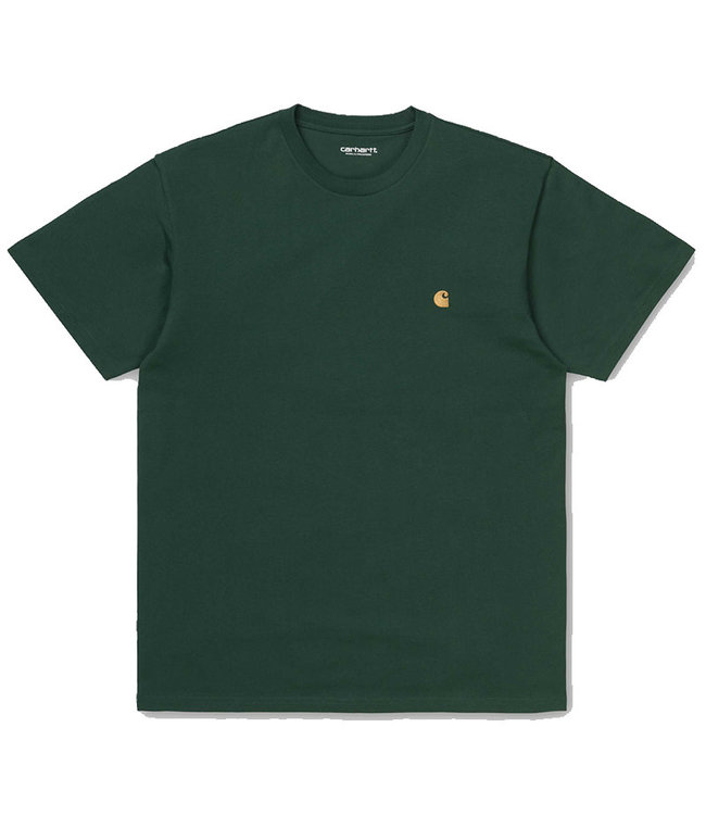 CARHARTT S/S CHASE T-SHIRT - TREEHOUSE/GOLD
