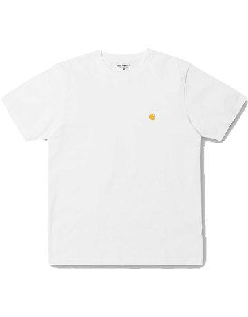 CARHARTT S/S CHASE T-SHIRT - WHITE/GOLD