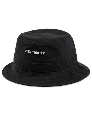 CARHARTT SCRIPT BUCKET HAT - BLACK/WHITE