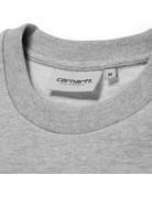 CARHARTT SCRIPT EMBROIDERY SWEAT - GREY HEATHER/WHITE