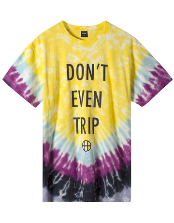 HUF DON'T EVEN TRIP S/S TEE - YELLOW