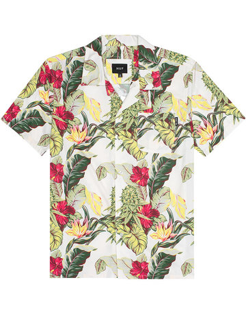 HUF PARAISO RESORT S/S WOVEN SHIRT - NATURAL