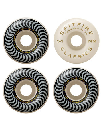 SPITFIRE FORMULA FOUR CLASSIC SWIRL SILVER - 54MM 101A
