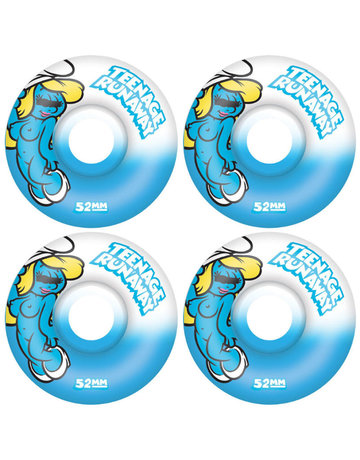 TEENAGE RUNAWAY URETHANE BLUE GIRL WHEELS - 52MM