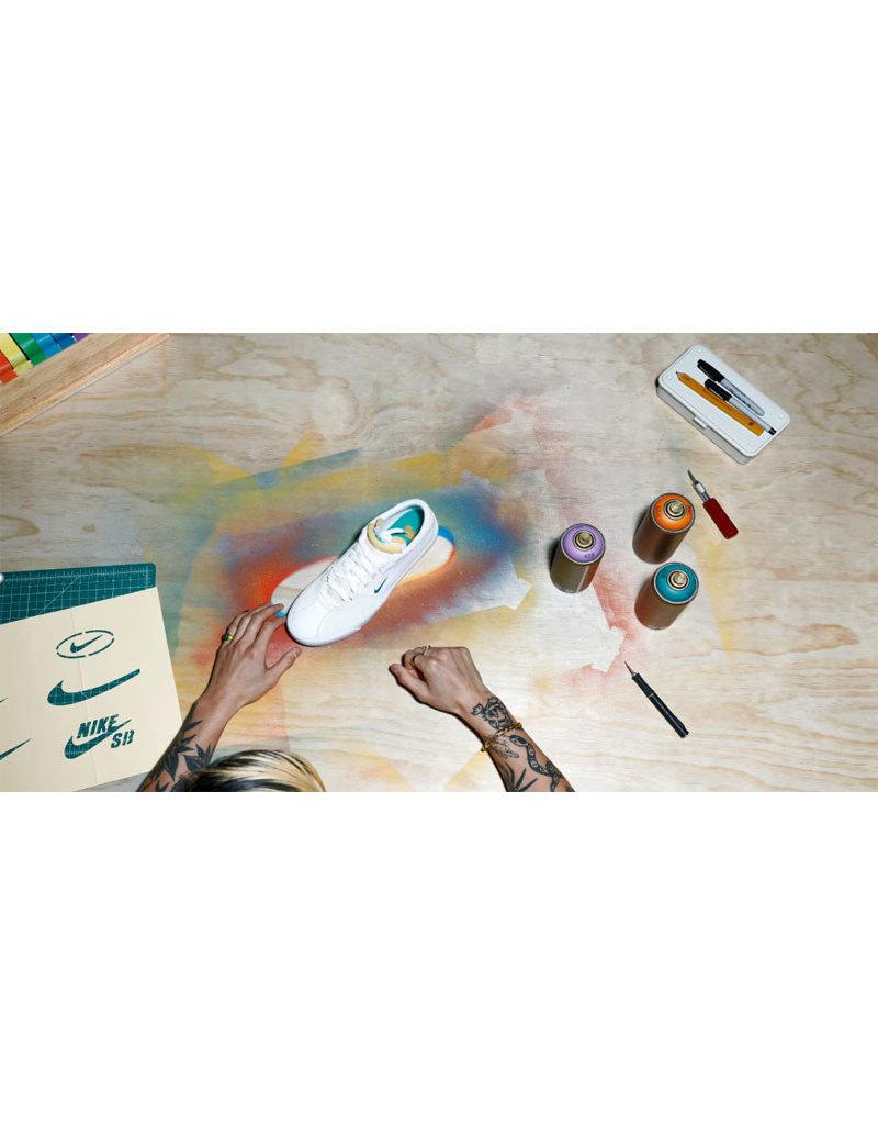NIKE SB BRUIN EDGE - WHITE/NEPTUNE GREEN-VIVID ORANGE