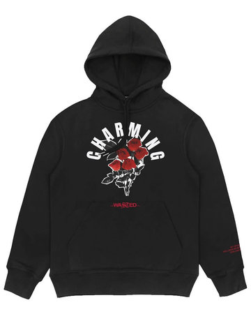 WASTED PARIS CHARMING HOODIE - BLACK