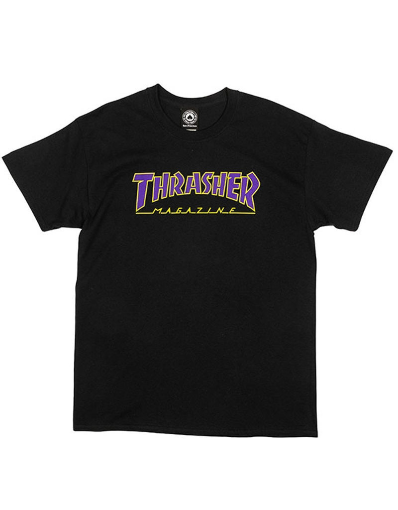 OUTLINED T-SHIRT - BLACK/GREEN/PURPLE