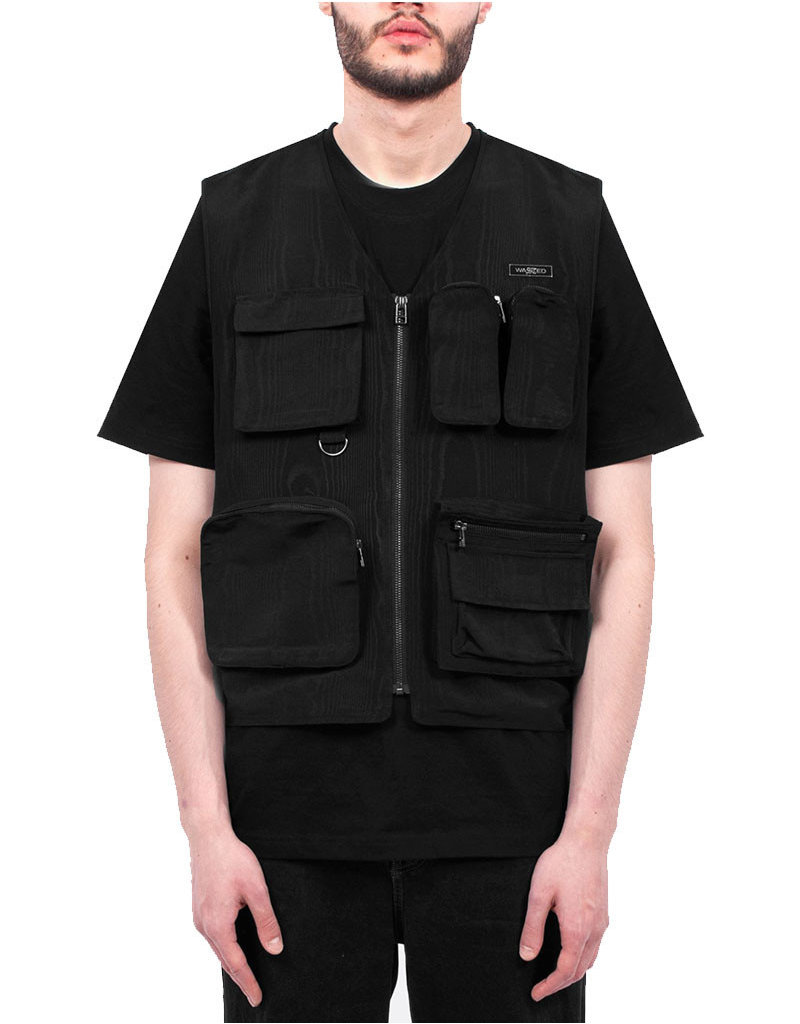 WASTED PARIS BASSWOOD TACTIC VEST - BLACK