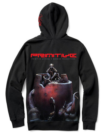 PRIMITIVE ANXIETY MAN HOOD - BLACK