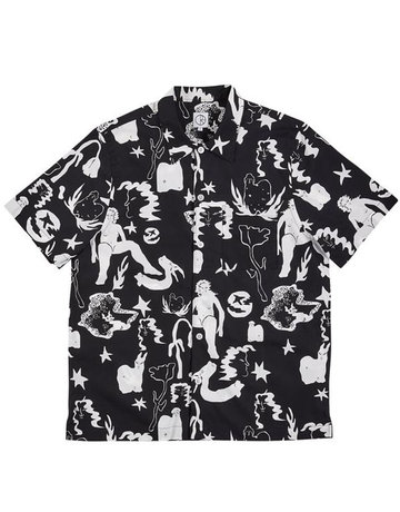 POLAR EAST DREAM SHIRT - BLACK/WHITE