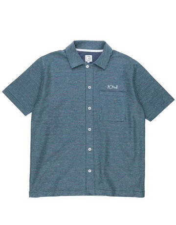 POLAR PATTERENED SHIRT STRIPE - NAVY/GREEN