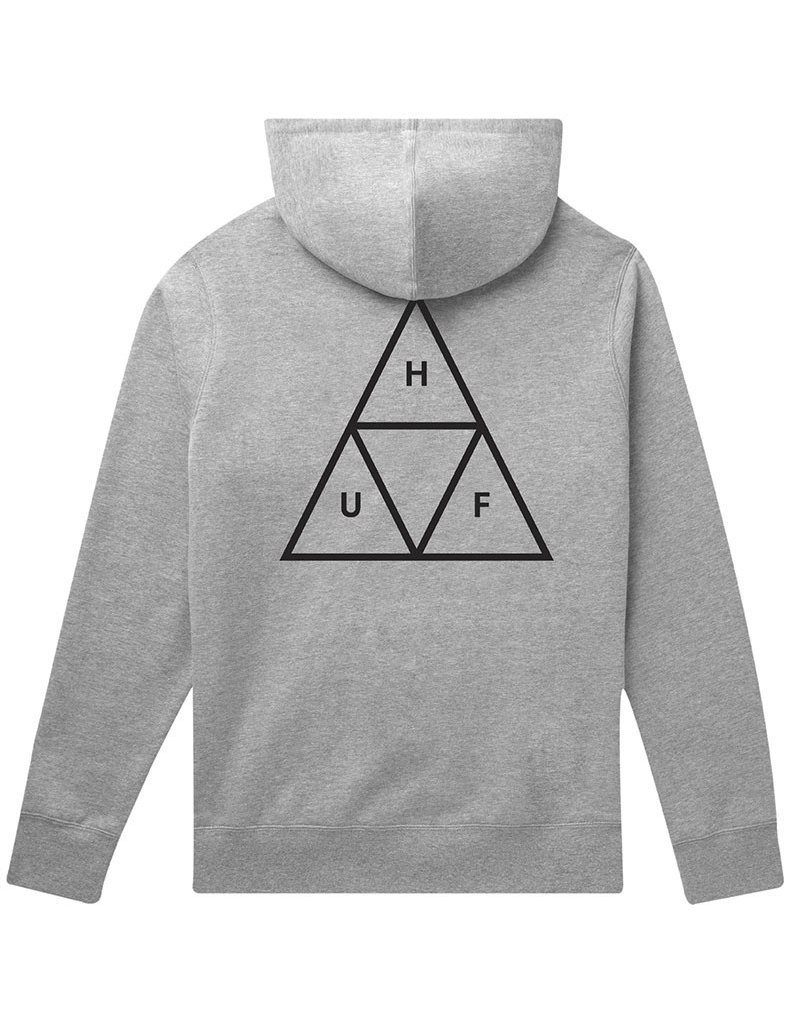 HUF ESSENTIALS TT PULLOVER HOODIE - GREY HEATHER