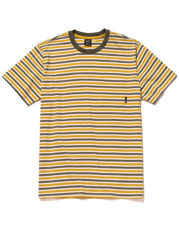HUF ALEX STRIPE S/S SHIRT - GOLDEN SPICE