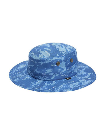 HUF FUCK IT TIGER CAMO BOONIE HAT - OLYMPIAN BLUE