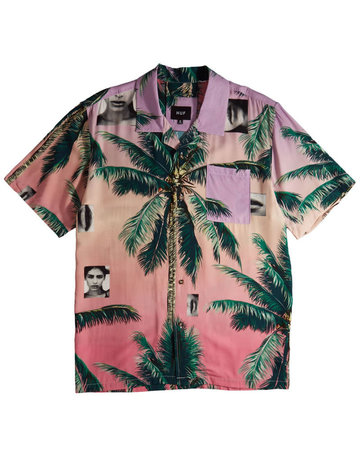 HUF MOLLY RESORT S/S SHIRT - CORAL PINK