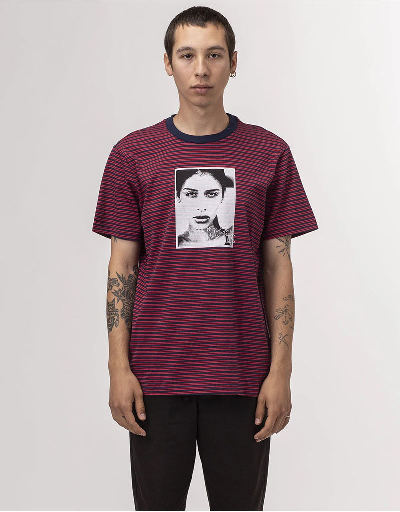 HUF MOLLY STRIPED S/S SHIRT - TRUE RED