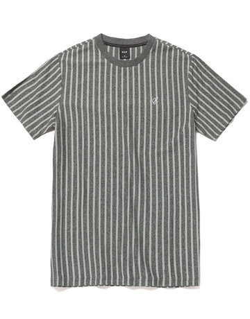 HUF OVERDYED VERT STRIPE S/S SHIRT - HARBOR GREY