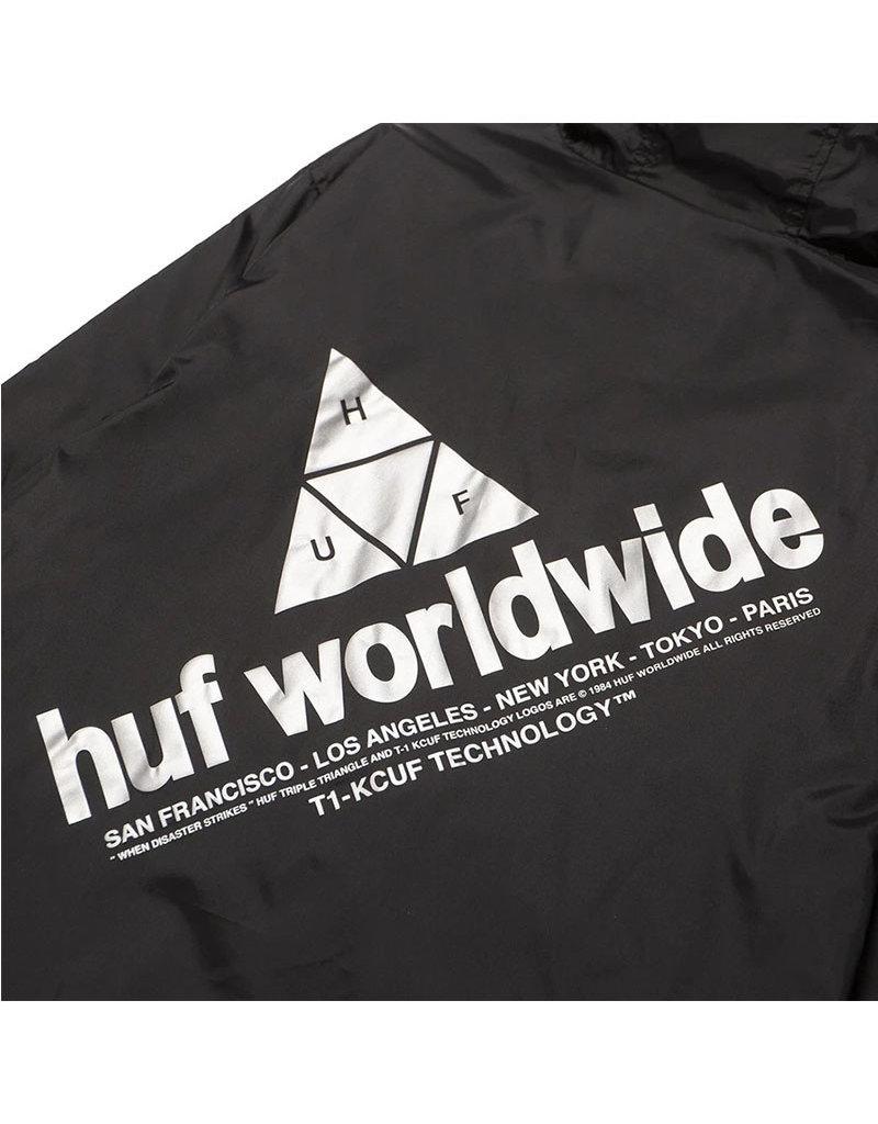 HUF WAVE ANORAK JACKET - BLACK