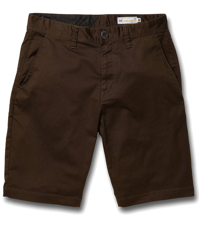 VOLCOM FRCKN MDN STRCH SHT - DARK CHOCOLATE