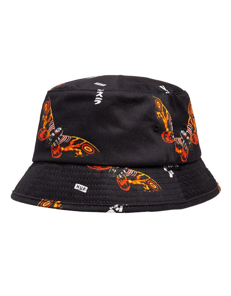 HUF MOTHRA BUCKET HAT - BLACK
