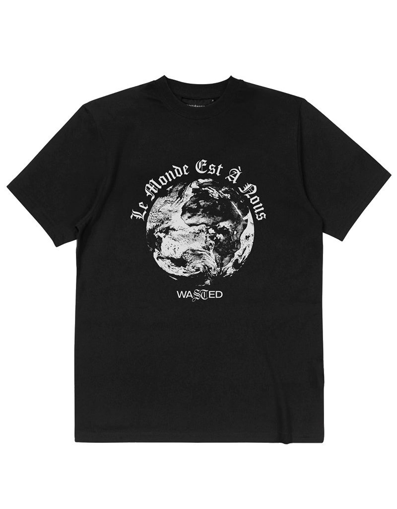WASTED PARIS GLOW WORLD TEE - BLACK