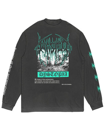 WASTED PARIS DYSTOPIA L/S FADED BLACK