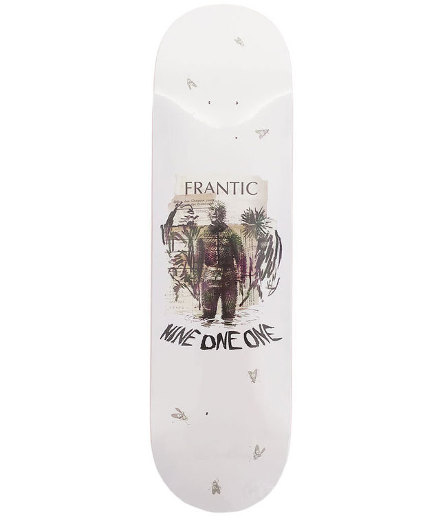 NINE ONE ONE FRANTIC x 911 - BEAR SUIT DECK WHITE - 8.0