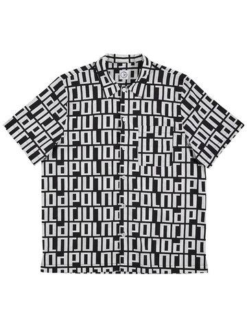 POLAR SQUARE LOGO SHIRT - BLACK/WHITE