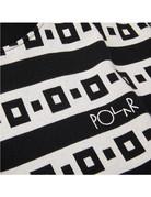 POLAR SQUARE STRIPE SURF TEE - BLACK