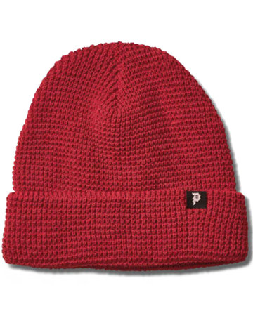 PRIMITIVE DIRTY P WAFFLE TWO-FER BEANIE - BURGUNDY