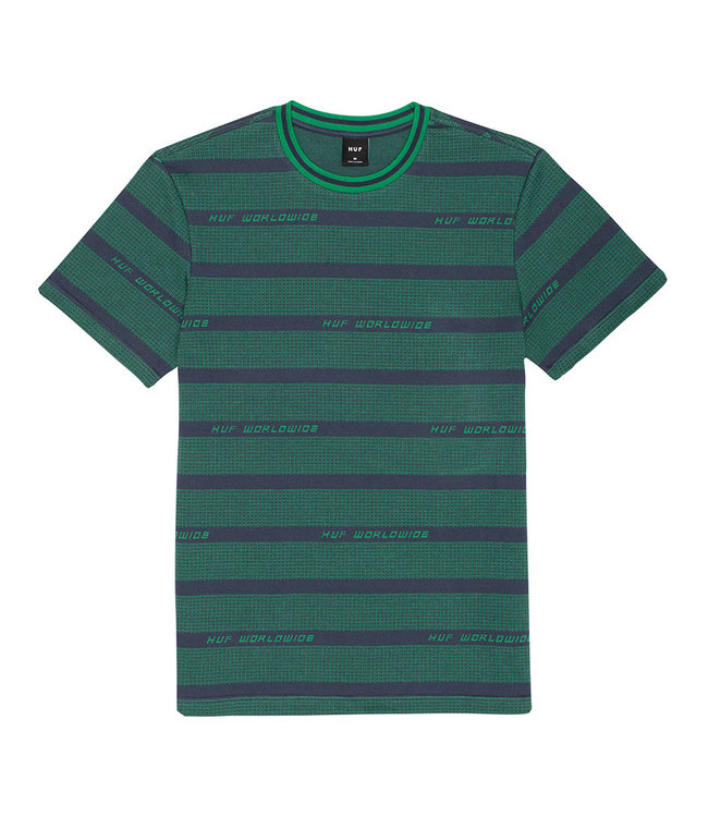 HUF ENZO STRIPED S/S KNIT TOP - DYNAMIC COBALT