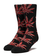 HUF PLANTLIFE MELANGE LEAVES SOCK - BLACK/RED