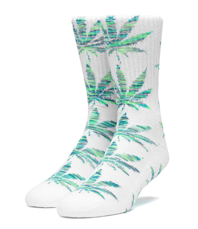 HUF PLANTLIFE MELANGE LEAVES SOCK - WHITE