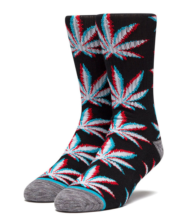 HUF STATIC PLANTLIFE SOCK - BLACK