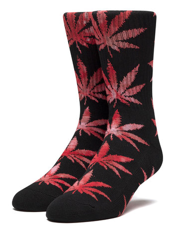 HUF TIEDYE LEAVES PLANTLIFE SOCK - BLACK