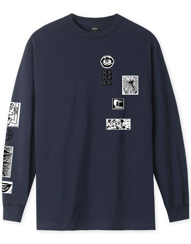 HUF MASTERS L/S TEE - FRENCH NAVY