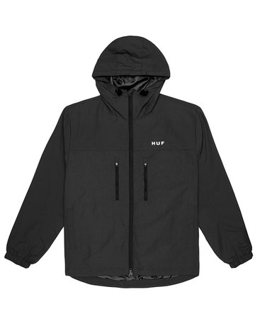 HUF ESSENTIALS ZIP STANDARD SHELL - BLACK
